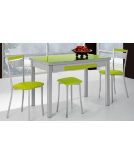 Mesa de cocina extensible con dos alas